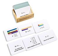 Montessori-Arbeitskartei mit 100 Auftragskarten zum Zahlenraum bis 10.