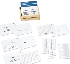 Montessori Marbeitskartei zur Hunbderter- und Tausenderkette