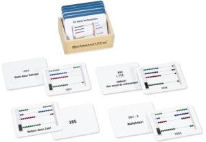 Montessori Arbeitskartei zum kleinen Rechenrahmen