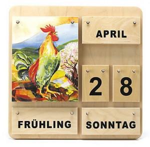 Dauerkalender aus Holz u.A. für Einrichtungen.