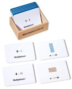 Arbeitskartei zum Montessori Perlenmaterial zur Multiplikation