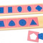 Sprachmaterial nach Maria Montessori: Metallene Einsätze