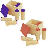 Montessori-Material zur Blindenarbeit.