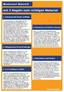 5 Relgen zur Auswahl des richtigen Montessori-Materials