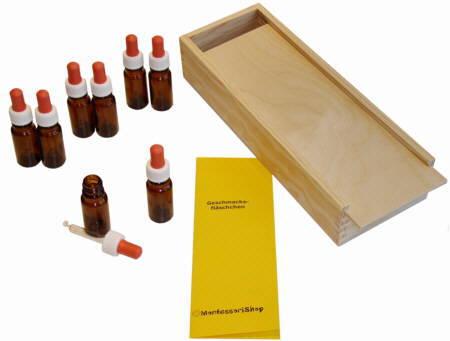 Montessori-Material - Geschmacksflaeschchen