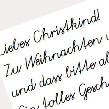 Brief an das Christkind.
