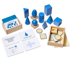 Montessori Geometrie verstehen mit Arbeitskartei