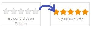 Beitragsbewertung per Sterne.