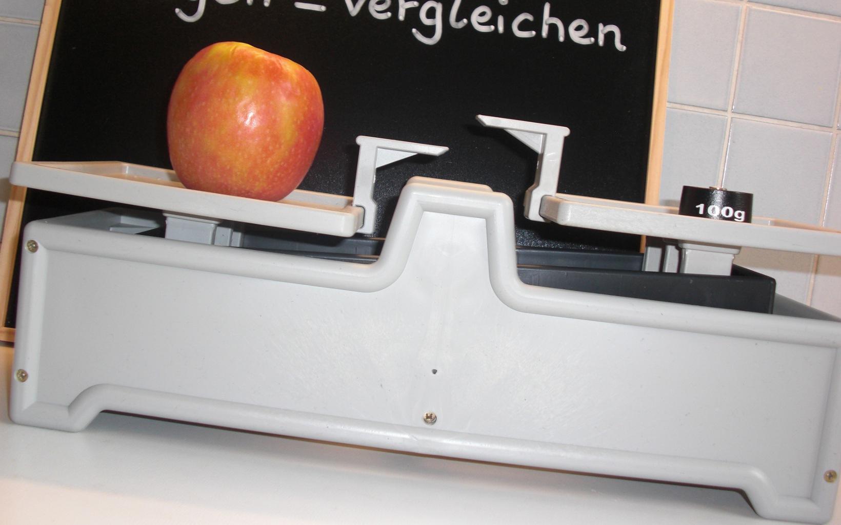 Montessori Kids wiegen nicht nur Äpfel