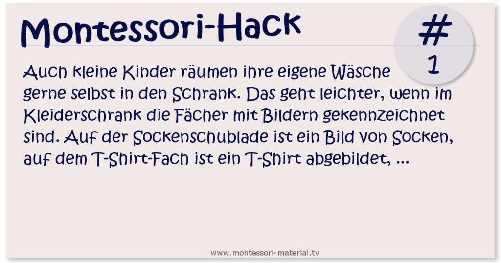 Montessori Hack #1 der Kleiderschrank