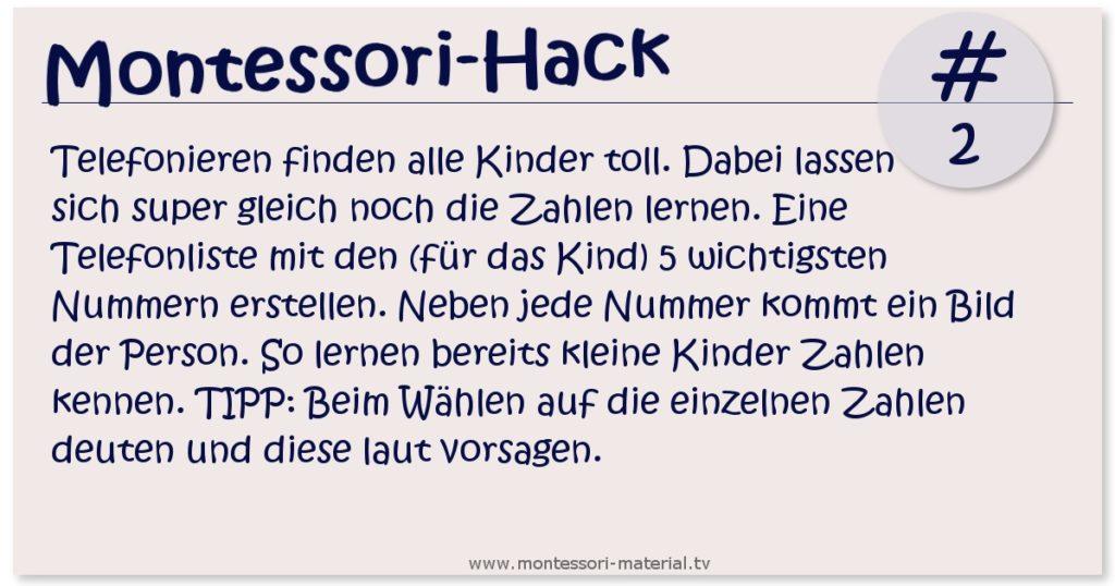 Montessori Hack - Kinder telefonieren lernen