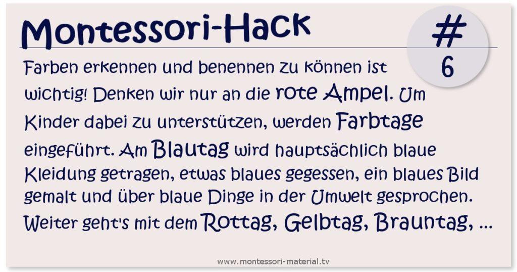 Montessori Hack - Farben lernen und benennen