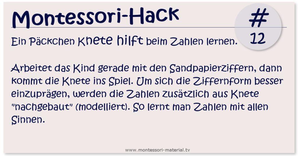 Montessori Hack #12 - Was Knete mit Sandpapierbuchstaben zu tun hat-