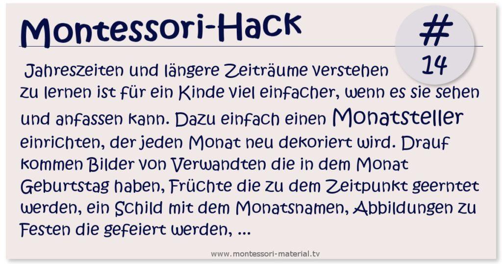 Montessori Hack 14 - der Monatsteller zum Lernen der Jahreszeiten