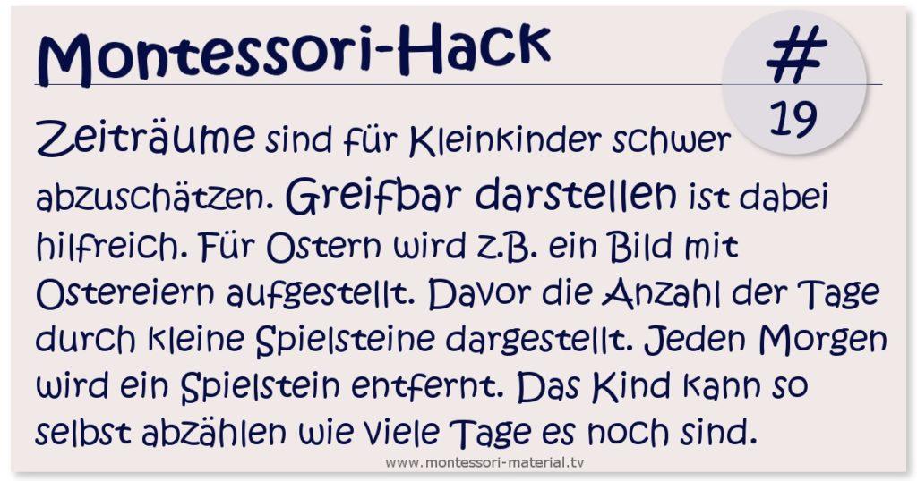 Montessori Hack - Zeiträume greifbar machen