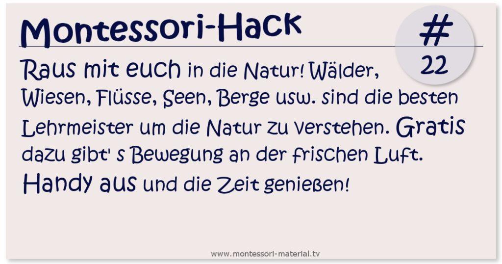Montessori Llifehack #22 - die Natur als Lehrmeister