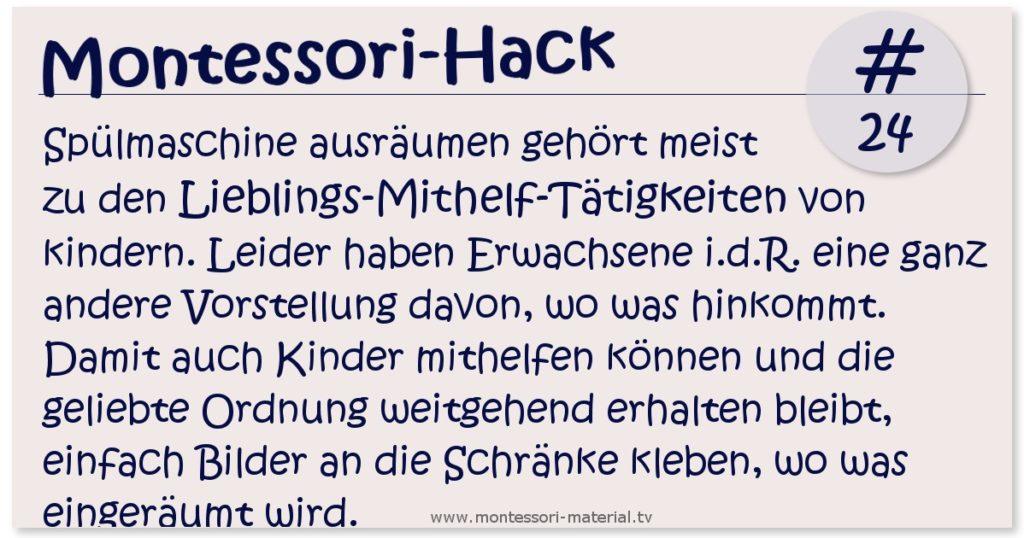 Motessori Hack 24 - Die Spülmaschine