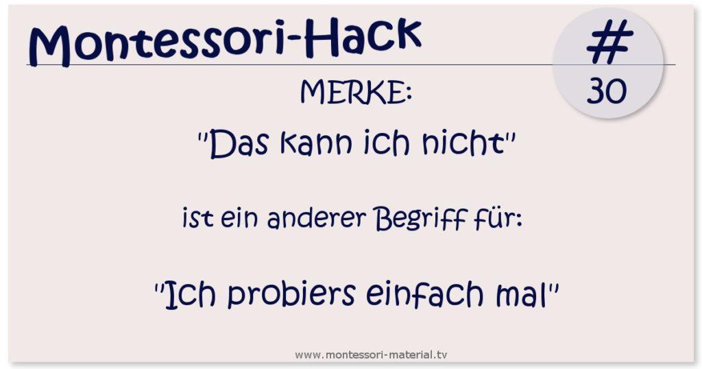 Montessori-Hack 30
