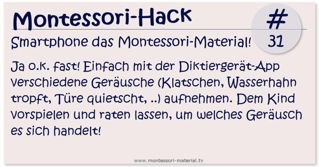 Montessori Hack - das Smartphone als Montessori-Material