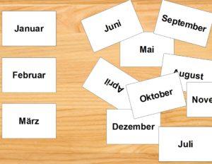 Gratis Sortierkartei zum lernen der Monatsreihenfolge. PDf-Download.
