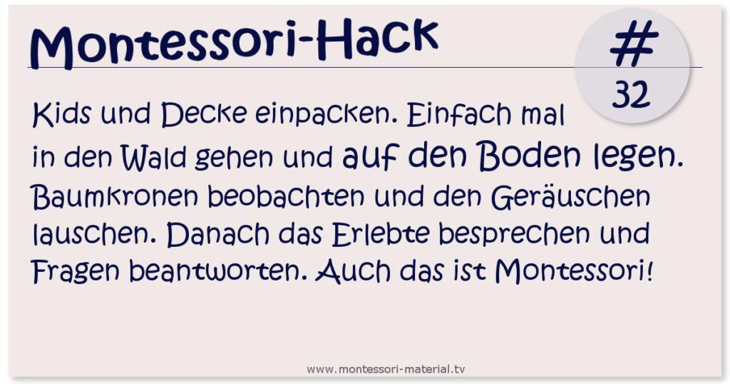 Montessori-Hack #33 - Auf in den Wald