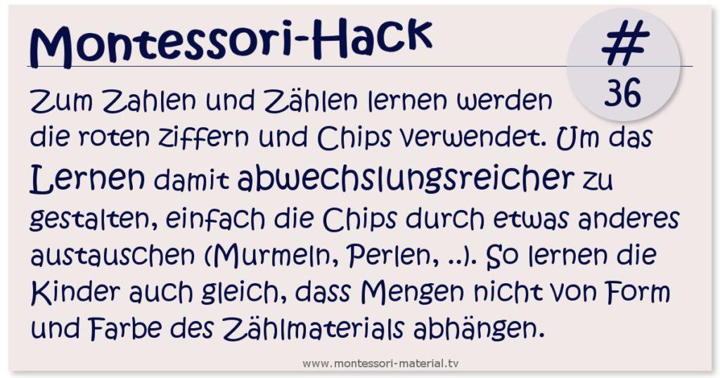 Montessori-Hack #36 - Ziffern und Chips
