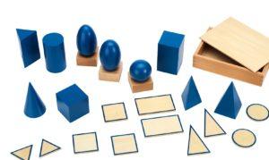 Geometrische Körper Montessori-Material zur Geometrie