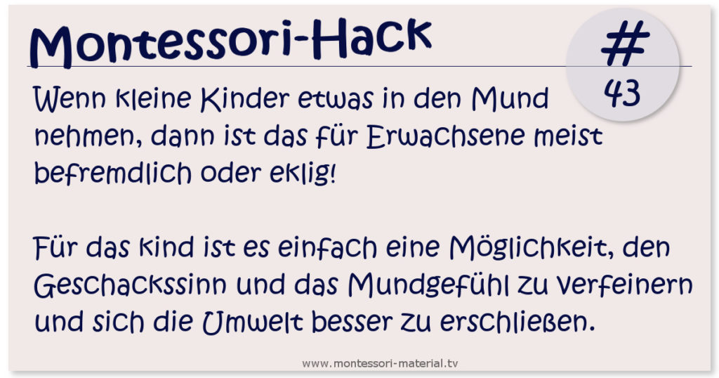 Montessori-Lifehack