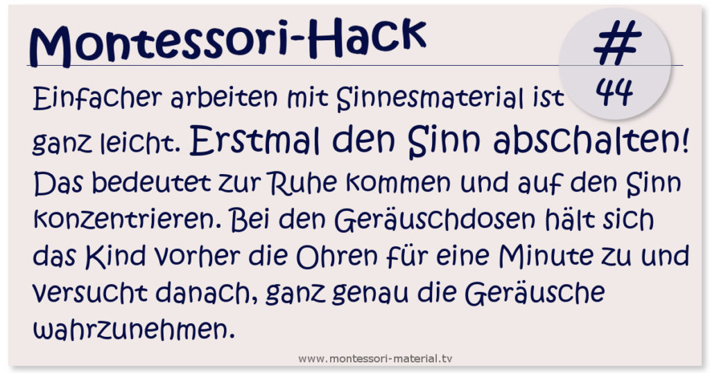 Montessori-Hack #44 Sinnesmaterial