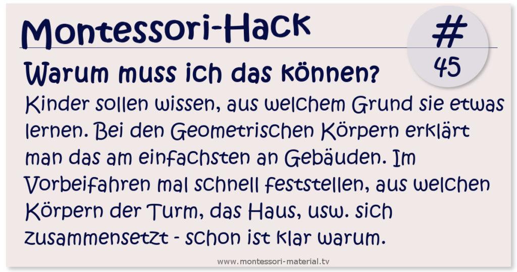 Montessori Hack #45 das Warum
