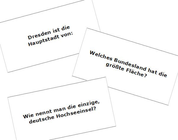 Arbeitskartei Deutschland-Quiz