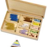 Montessori Perlenmaterial zur Zahlenzerlegung in der Grundschule