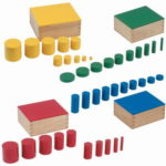 Knopflose farbige Zylinder Montessori-Material