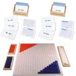 Montessori-Material Streifenbretter zur Addition und Subtraktion inkl. Arbeitskartei mit Aufgaben zum Zehnerübergang.
