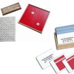 Sparset Pythagorasbrett mit Aufgabenkarten, Montessori-Material zum Lernen der Malreihen im Zahlenraum bis 100