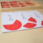Brüche lernen mit Montessori-Material
