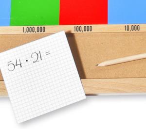 Multiplikation mit Montessori lernen